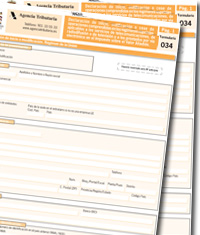 Proyecto de Orden que aprueba el formulario 034