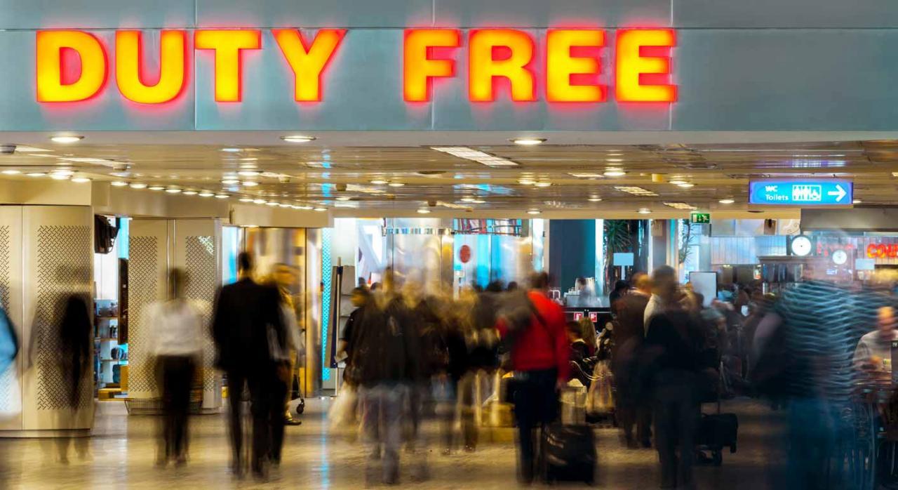 Proyecto de Orden sobre venta de bienes a viajeros y avituallamiento de naves a efectos de IVA y los IIEE. Imagen de tienda libre de impuestos