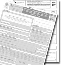 Proyecto de Orden de modificación de los modelos 190, 117 y 390