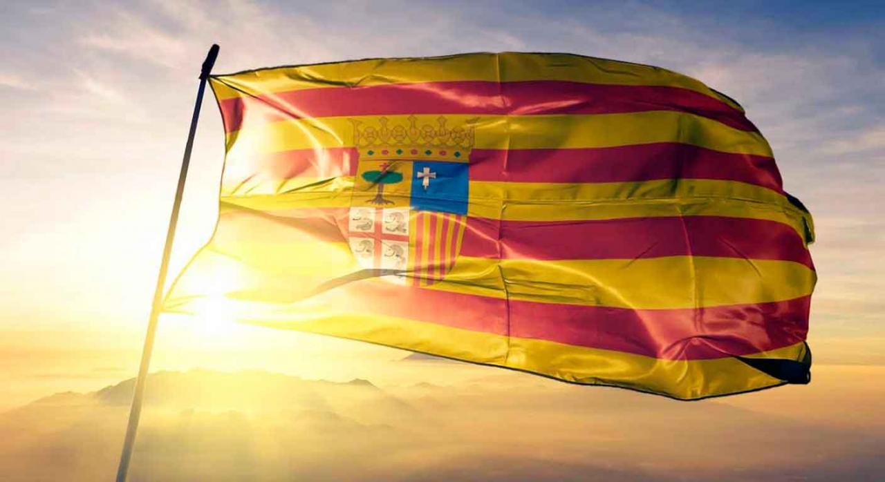 Impuestos cedidos covid19. Bandera de Aragón
