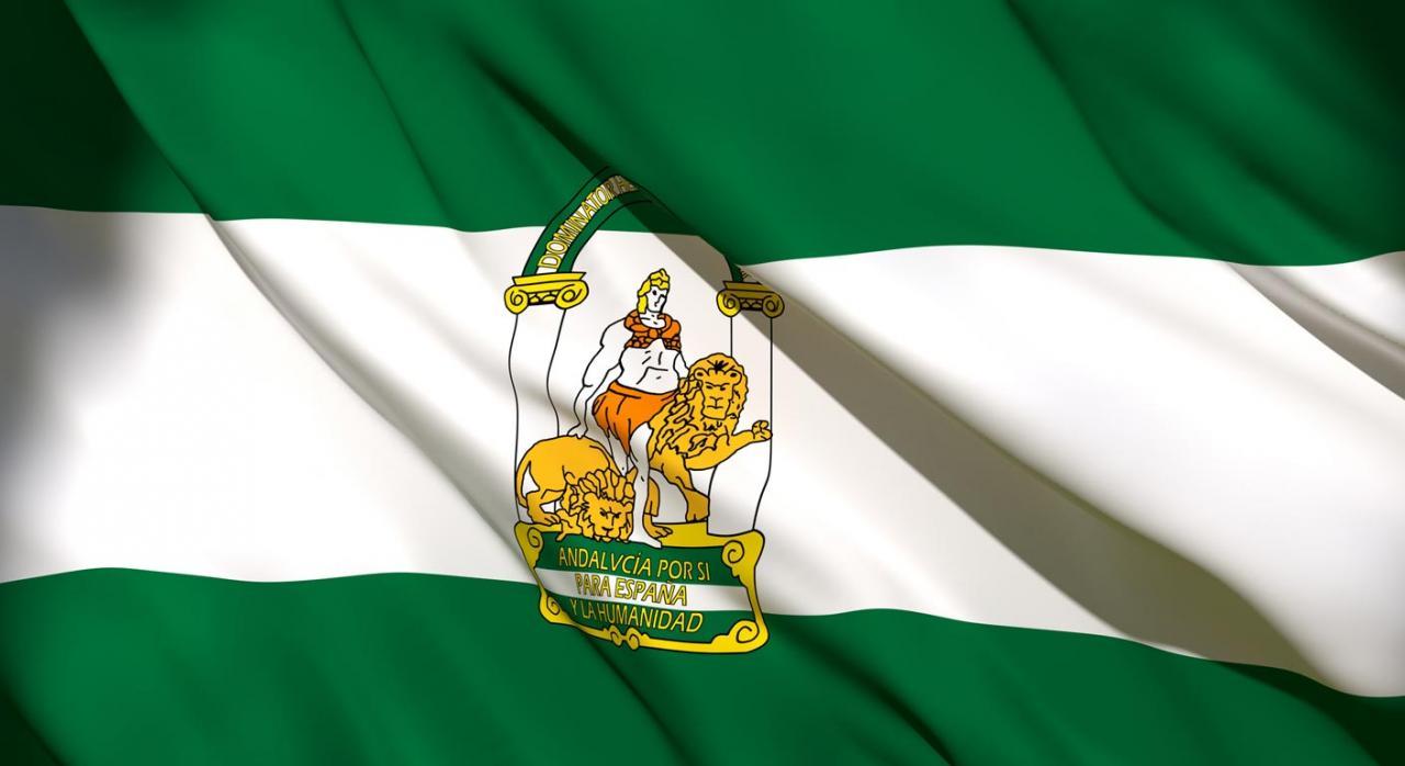 Presupuestos de Andalucía para 2021. Imagen de la bandera de Andalucía