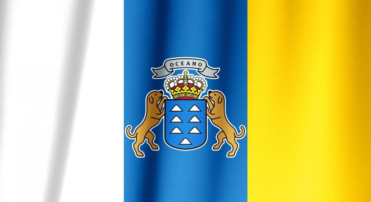 Canarias perfila sus medidas tributarias sin hacer grandes cambios para 2021. Imagen de la bandera de Canarias