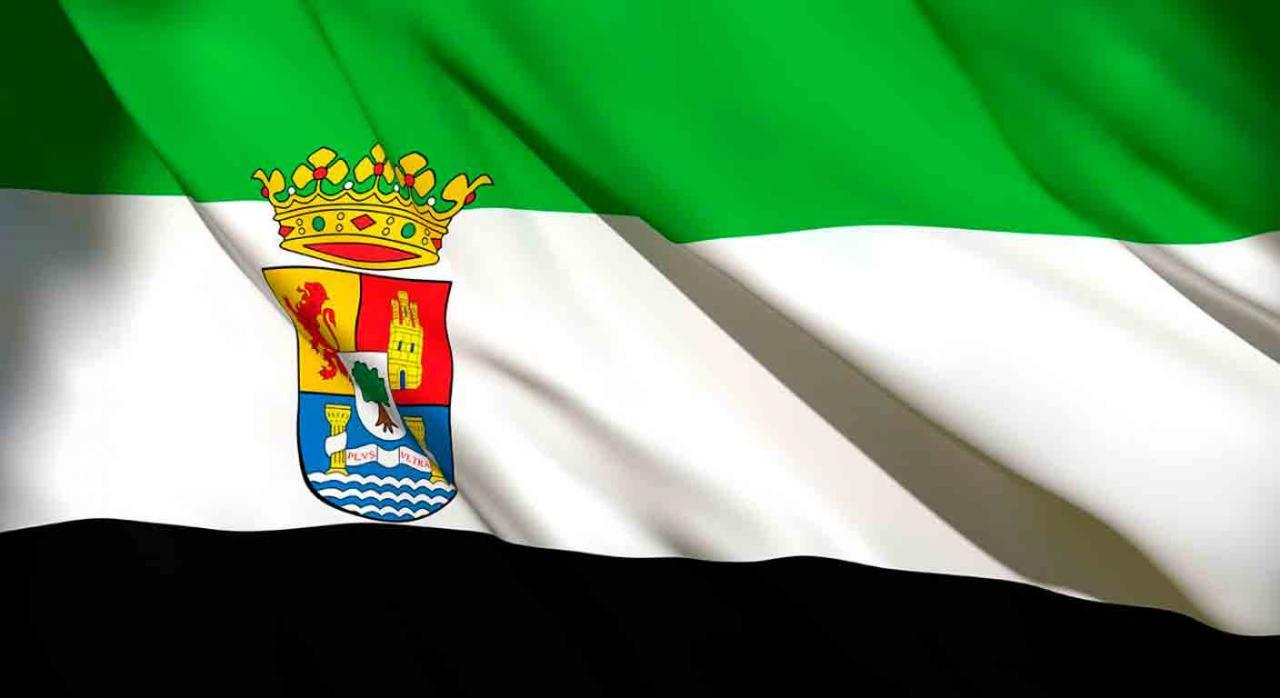 Presupuestos Extremadura. Bandera de la Comunidad Autónoma de Extremadura