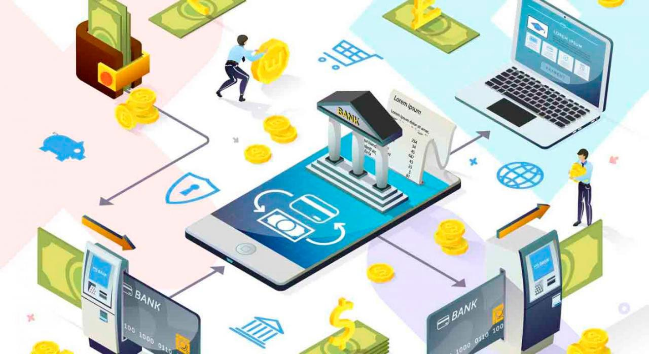 Modificación de distintos reglamento tributarios en Bizkaia para implementar el proyecto BATUZ. Imagen de ordenadors, tarjetas bancarias todo como conectado entre sí