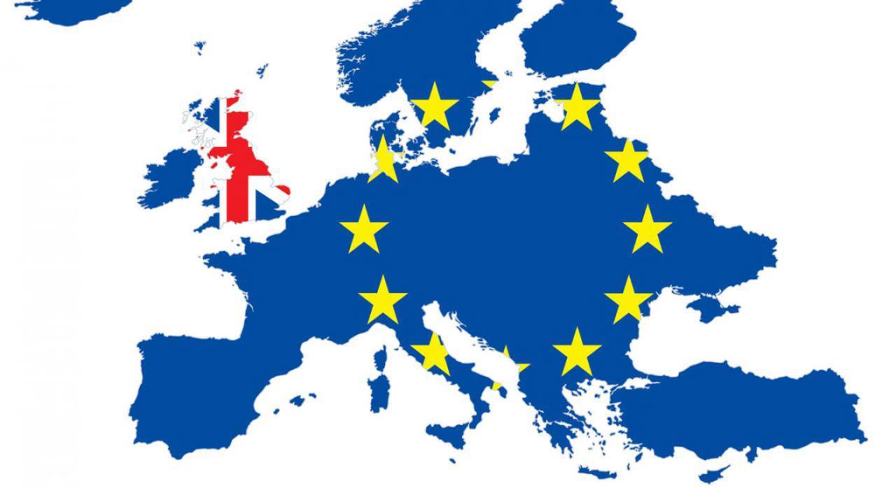 Brexit jornada. Imagen de una mapa de Europa