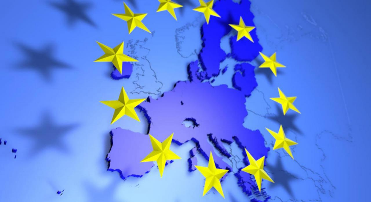 Comisión asuntos fiscales. Imagen de la bandera de europa