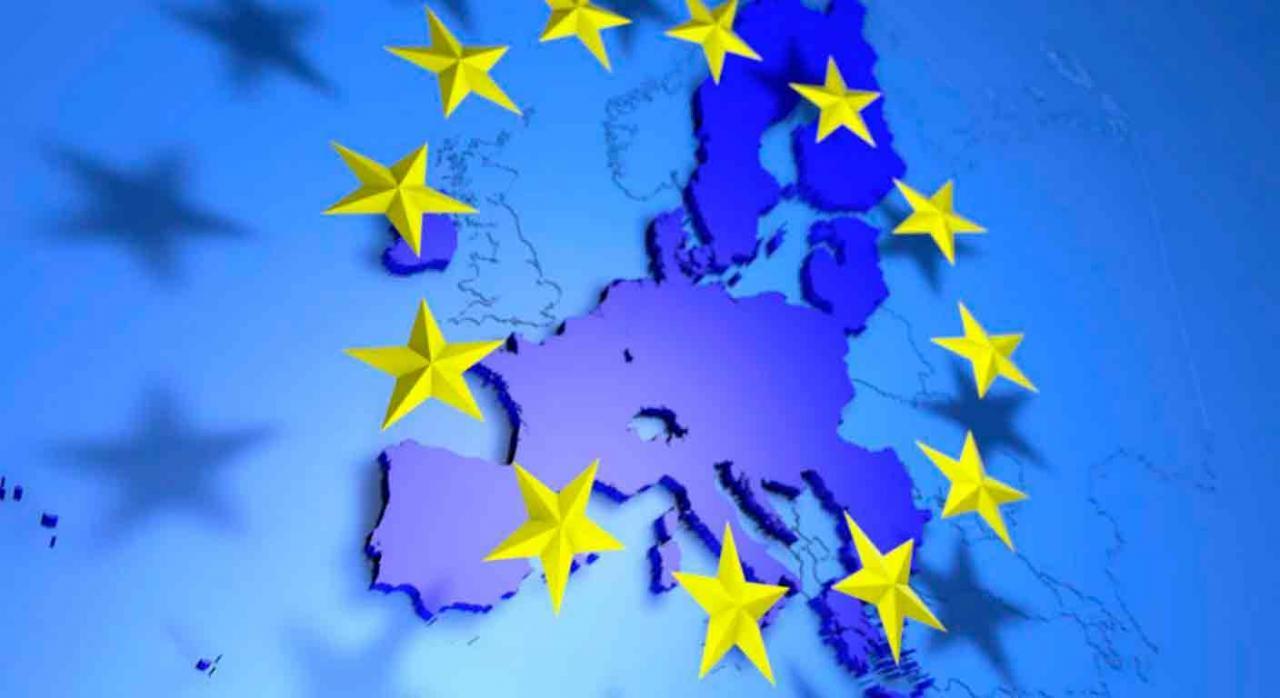 IVA compras línea. Imagen de la bandera de europa