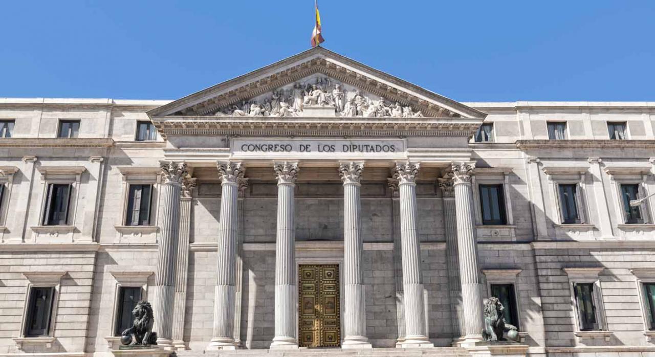 Pendiente de publicación el en BOE: Ley de prevención y lucha contra el fraude fiscal. Imagen del Congreso de los Diputados en Madrid