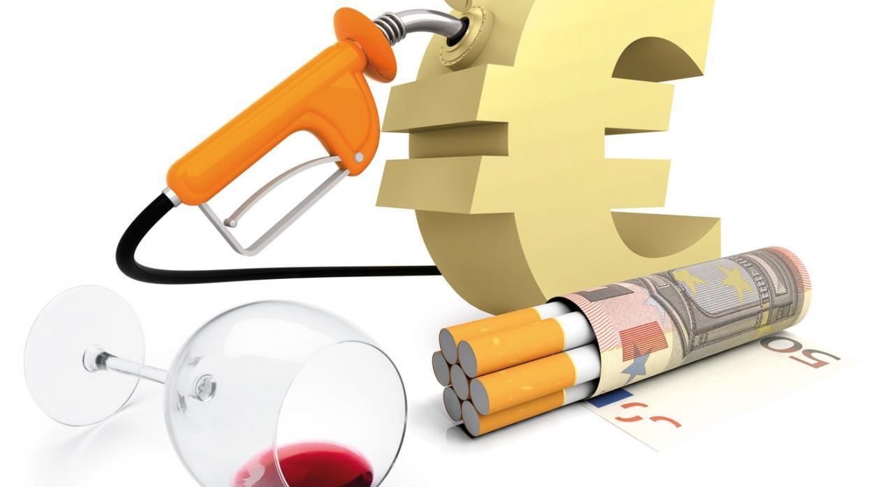 Imagen de los productos que tienen impuestos especiales como el tabaco, el vino o la gasolina