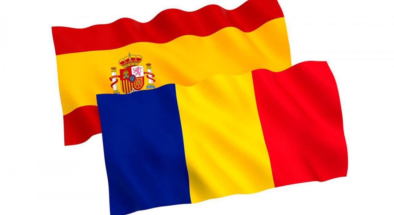 Convenio entre España y Rumanía. Banderas de España y Rumanía