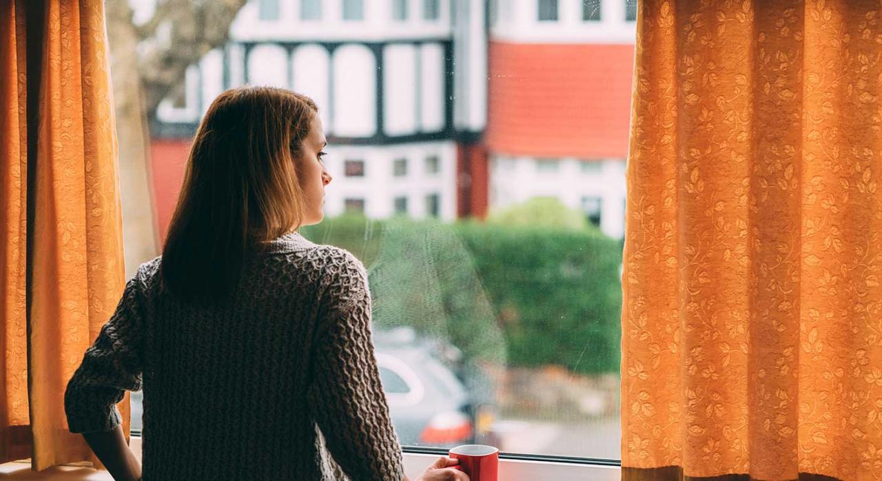 cuarentena 7 p) Ley IRPF. Imagen de una chica en la ventana
