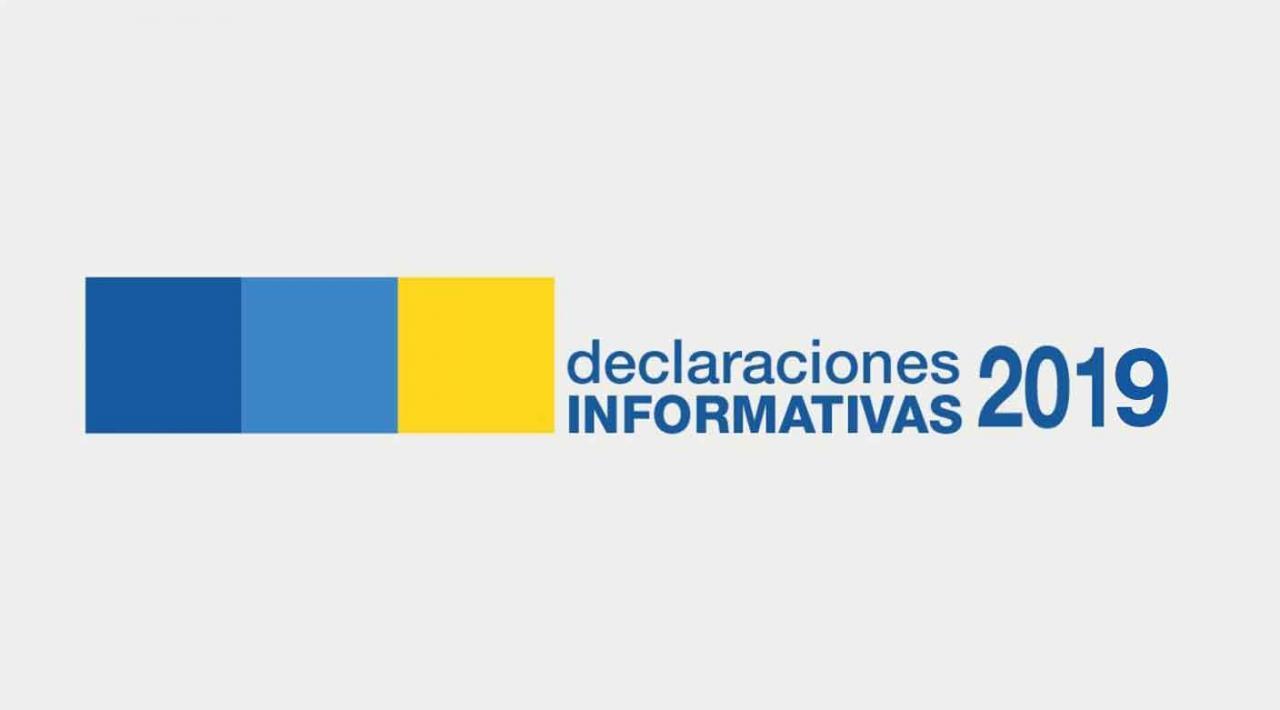 Imagen con el texto declaraciones informativas 2019