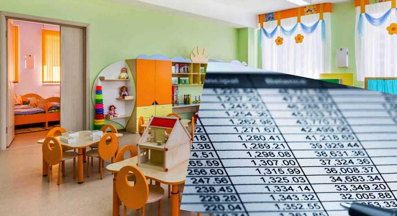 IRPF: cambios en el modelo 233 y en los libros registros. Imagen de centro de educación infantil y hoja de cuentas superpuesta