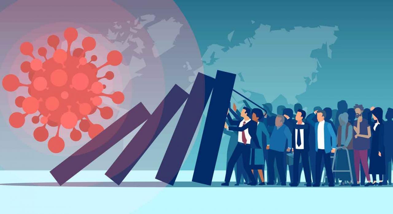 Cataluña medidas covid-19. Imagen que representa el impacto en el empleo del COVID en la población