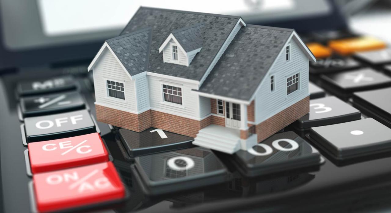 Casa sobre calculadora