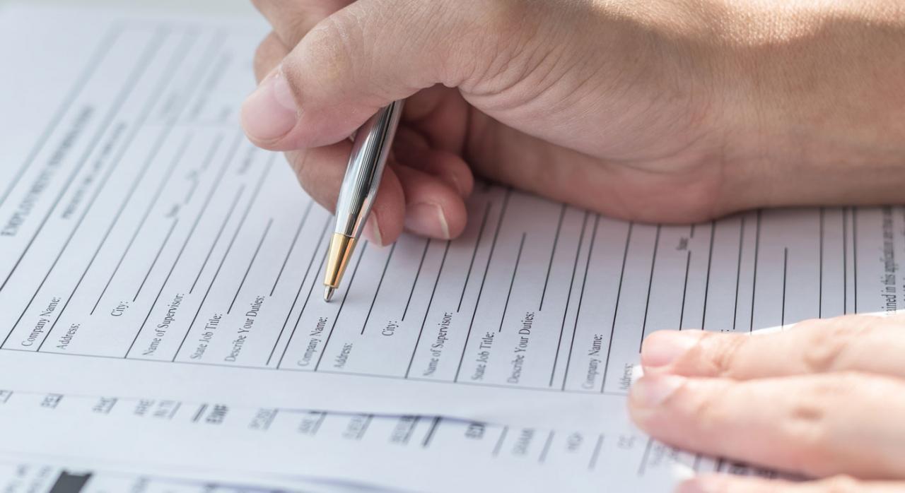 Inscripción registro mercantil. Imagen de un formulario de solicitud
