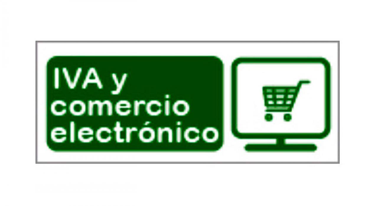 IVA comercio electrónico. Logotipo IVA y comercio electrónico