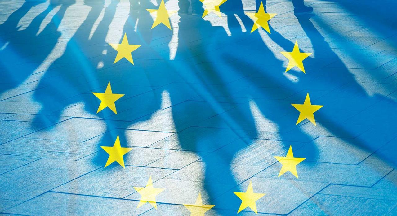 Iva, exención. Imagen de la bandera de la Unión Europea