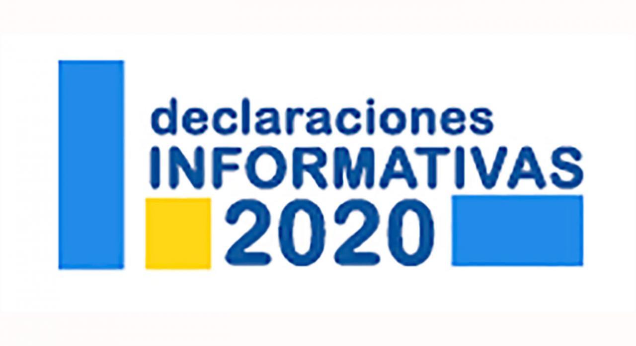 Declaraciones informativas. Imagen del logo de Declaraciones informativas 2020