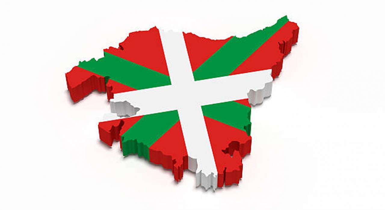 Novedades tributarias en los territorios históricos del País Vasco para 2021. Mapa del País Vasco sobre fondo blanco