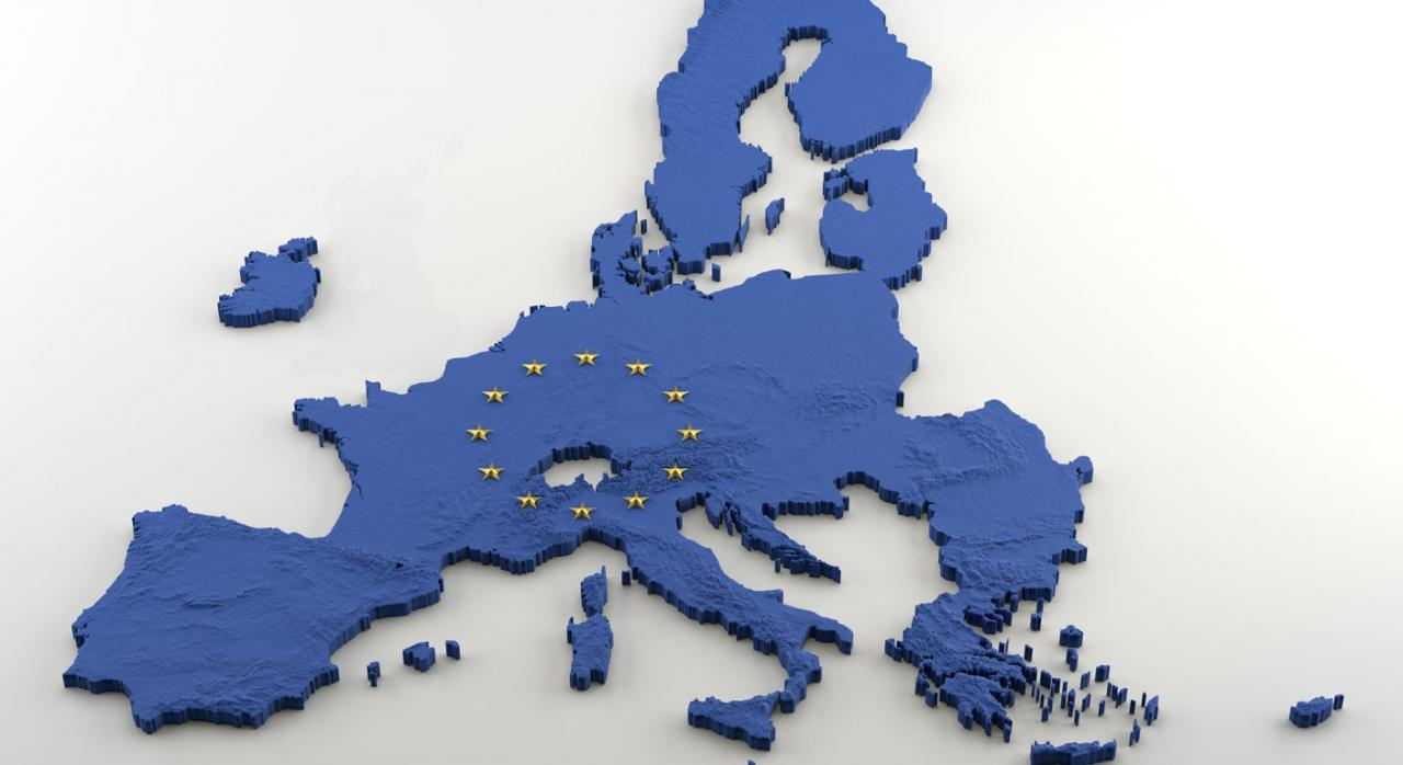 Lista paises cooperadores. Imagen del mapa de la Unión Europea