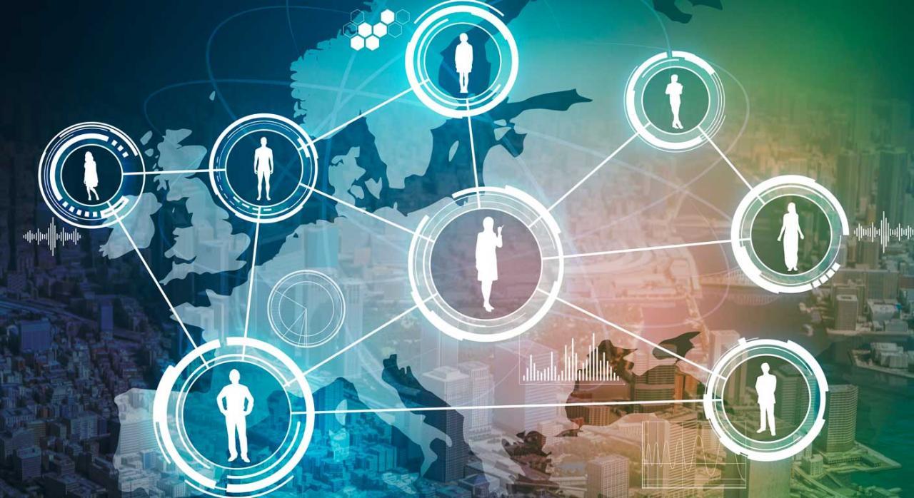 Imagen de red social europea