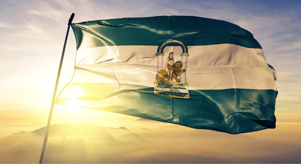 Fiscalidad Andalucía. Medidas para 2020. Imagen bandera Comunidad Autónoma de Andalucía