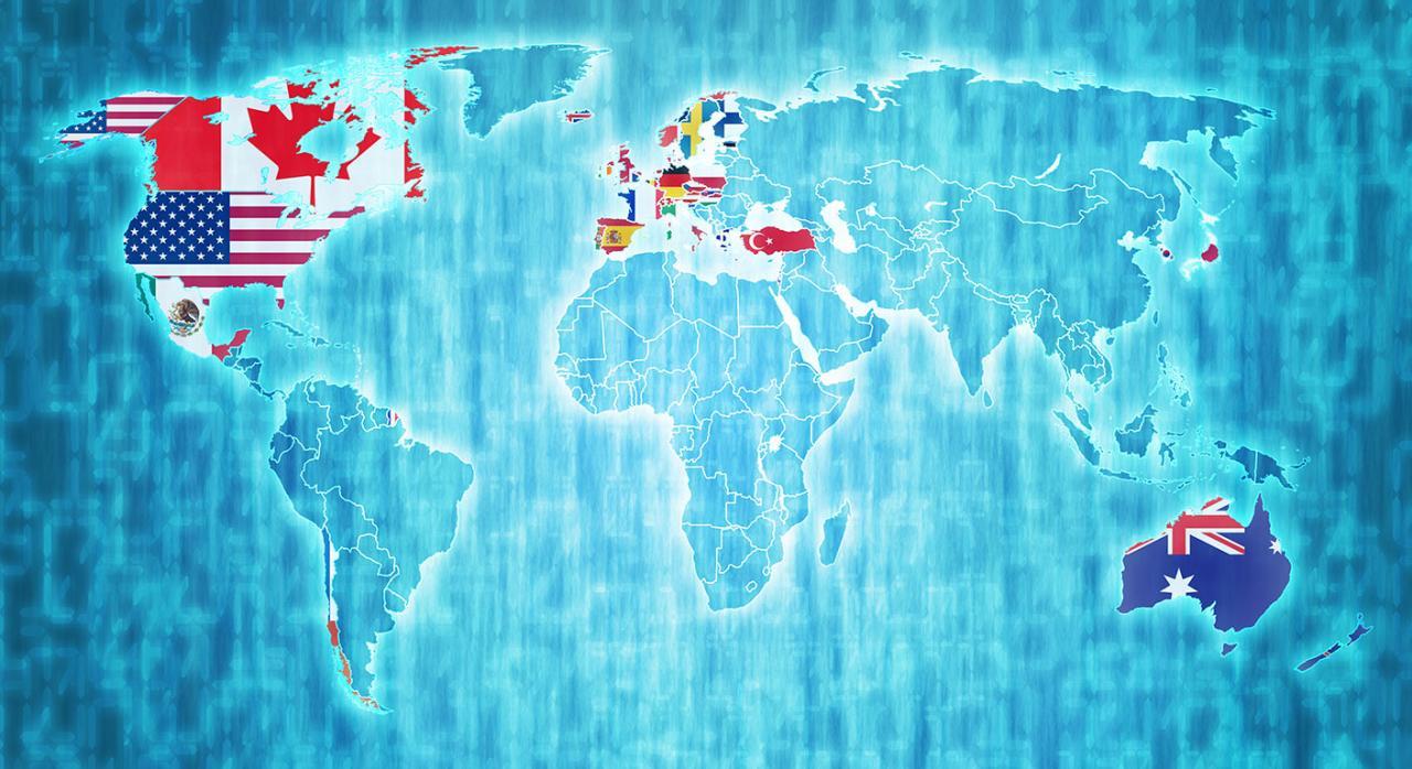 Medidas tributarias, COVID-19, coronavirus, mundial, OCDE. Imagen de un mapa mundi