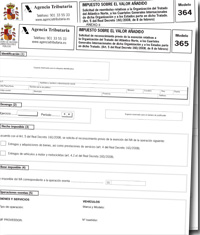 Proyecto de Orden de creación y modificación de diversos modelos de IVA: modelos 364, 365, 360 y 361