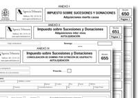 Proyecto de orden de aprobación de nuevos modelos del ISD: 650, 651 y 655