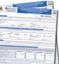 Proyecto de Orden de aprobación del modelo 113