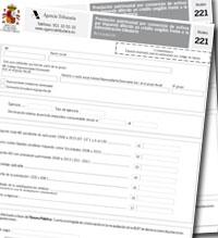 """Proyecto de Orden de aprobación modelo 221 """"Prestación patrimonial por conversión de activos por impuesto diferido en crédito exigible frente a la Administración tributaria"""""""