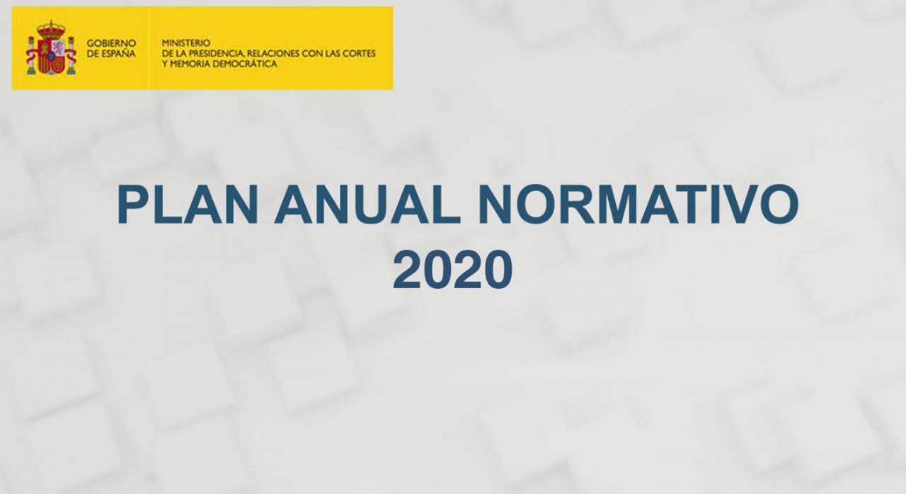 Reformas fiscales contenidas Plan Anual Normativo 2020. Imagen de la portada del documento oficial