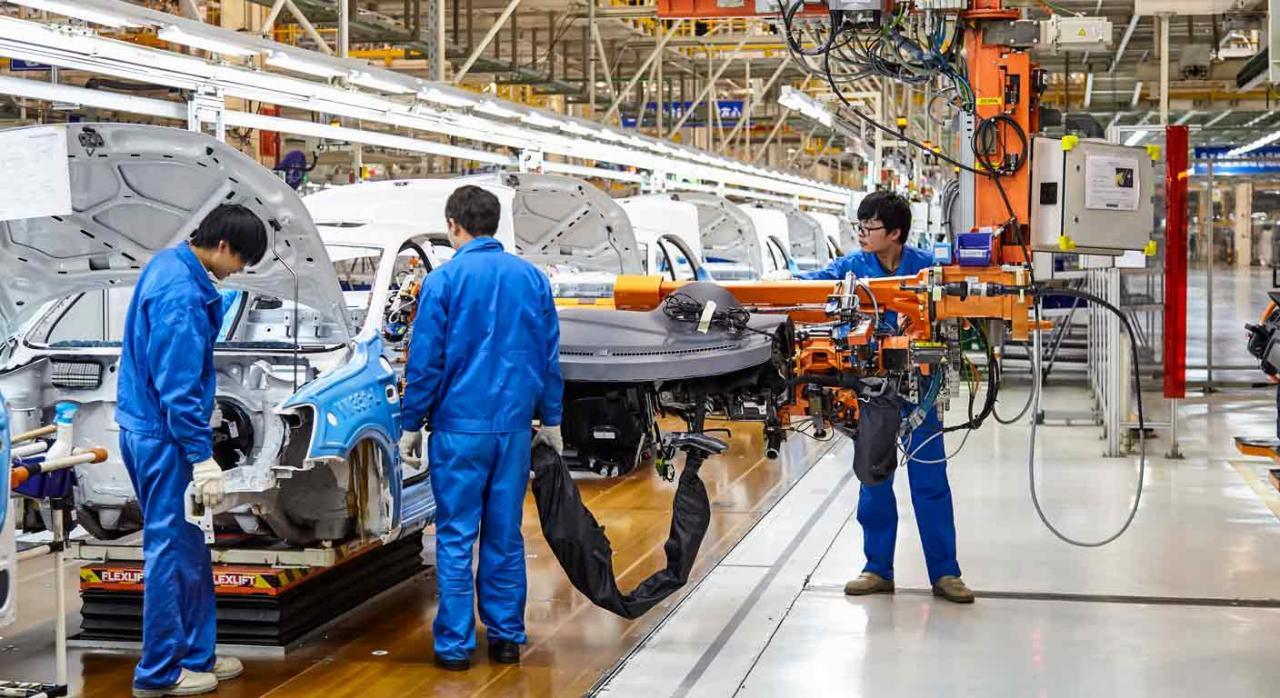Plan de Impulso a la industria de la automoción. Cadena de montaje de vehículos