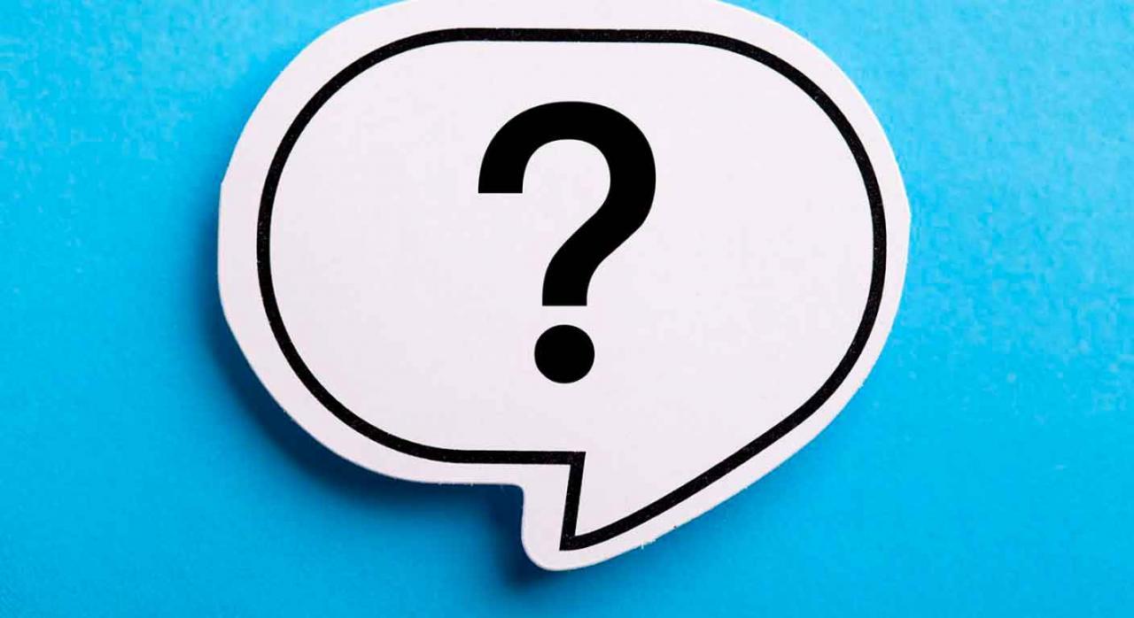 Preguntas frecuentes 770   771. Signo de interrogación en un bocadillo