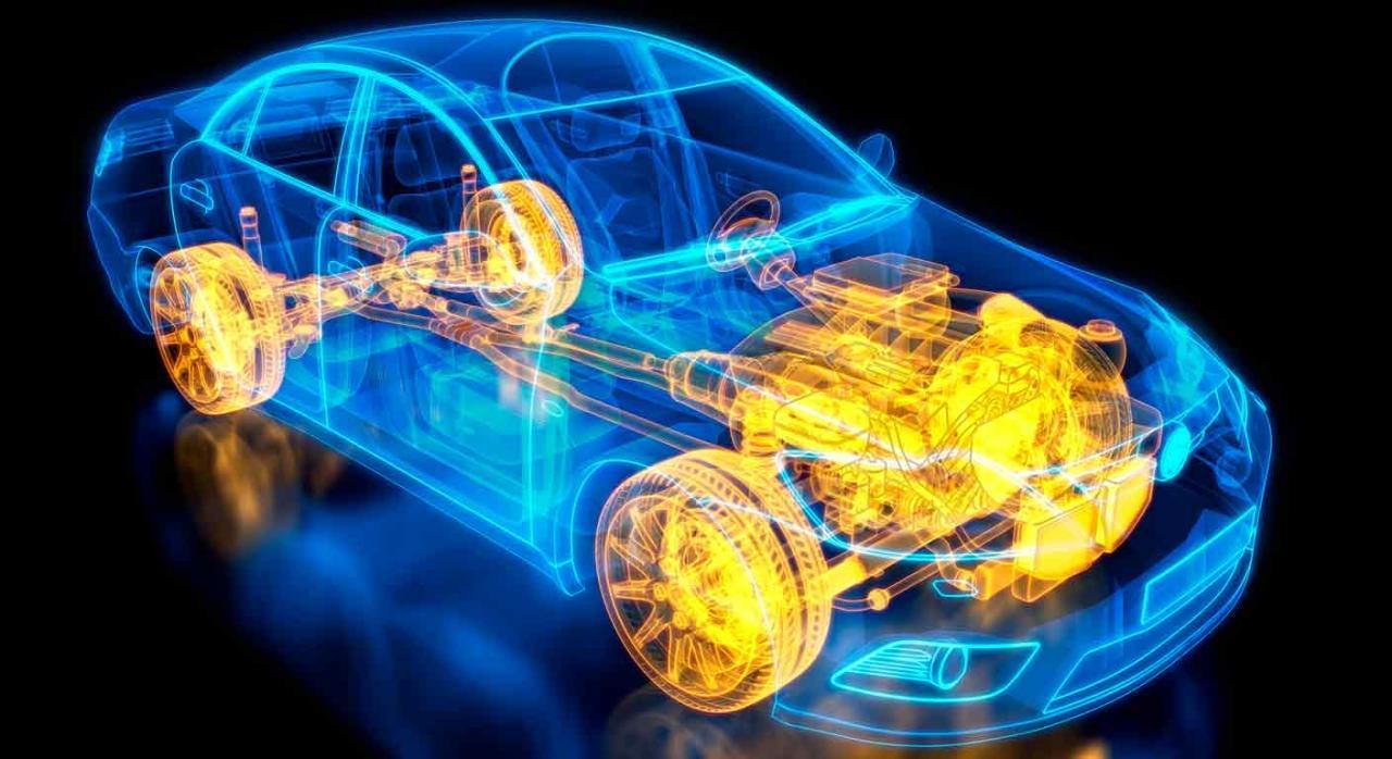 Presupuestos Generales de Murcia. Ilustración en 3D de la radiografía de un coche