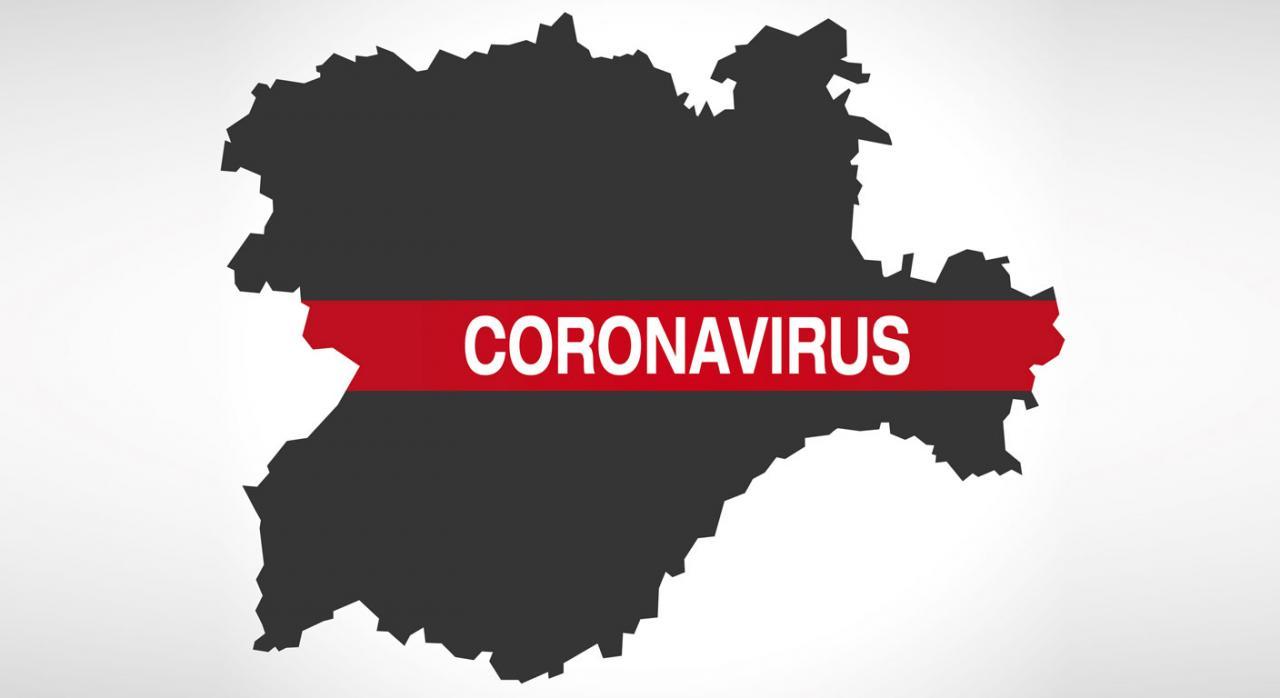 Nueva prórroga en Castilla y León para la presentación y pago del ISD e ITPAJD. Imagen de mapa de la comunidad de Castilla y León con la palabra coronavirus escrita en rojo