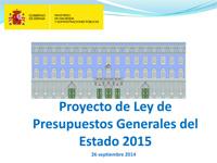 Aprobado el Proyecto de Ley de los PGE para 2015