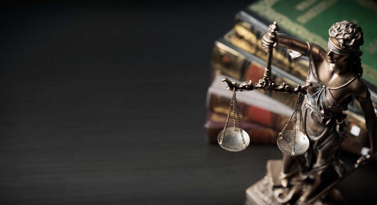 Tribunal constitucional, suspensión, plazos, coronavirus. Imagen de la estatua de la señora justicia